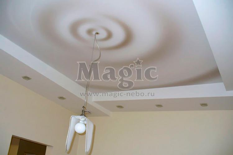 натяжные потолки одноуровневые фото для кухни